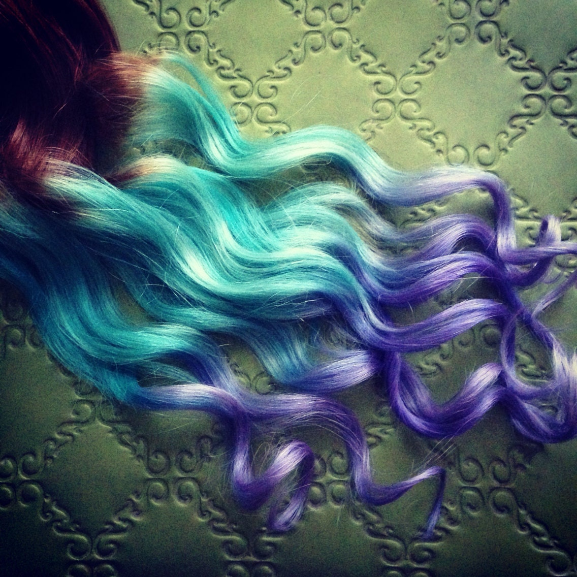 peruca hair queen harajuku wig gradient ombre pastel