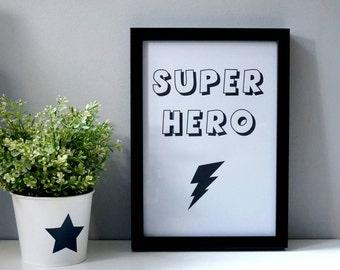 Super Hero Wall print