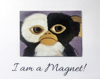 Sad Gizmo Magnet, Gizmo Refrigerator Magnet, Gremlins Art Kitchen Decor, Gizmo Fridge Magnet, Gizmo Art for Kitchen Decor, Gizmo Fan Art