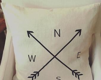 NESW Farmhouse Pillow / Arrow North / Farmhouse Decor / Rustic