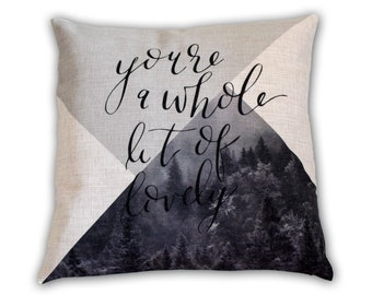 Geometric Forest - Pillow Cover