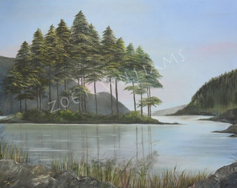 Ennerdale Reservoir, Original Oil Painting on Canvas Board - Reduced Price.