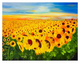 Sunflower Field Forever