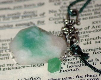 Peace jade pendant cord necklace