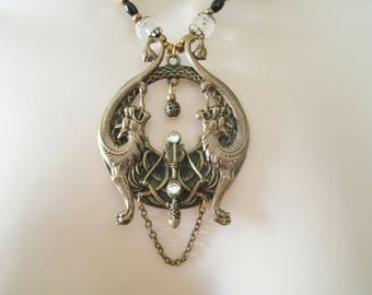 Dragon Hunter Necklace medieval jewelry renaissance jewelry dragon jewelry gothic jewelry steampunk viking gothic necklace medieval necklace