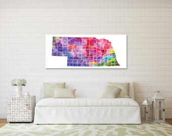 Nebraska State Art Canvas