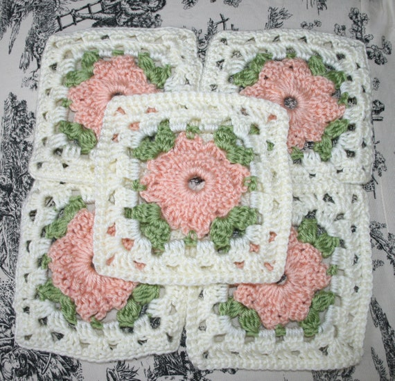 Granny Square Pieces, Vintage Granny Squares, Crochet Granny Squares ...