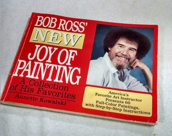 Bob Ross New Joy of Painting Vintage Book