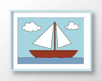Simpsons Boat Picture, Simpsons boat poster, simpsons living room picture, Simpsons Printable, simpsons wall picture, homer printable, 2048