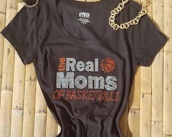 Basketball Mom Shirts - Sports Shirts - Basketball Shirts - The Real Moms of Basketball Shirt - Basketball Mom - Mom Shirts Workout Tee