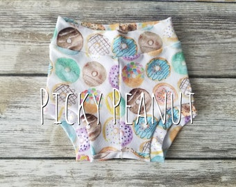 Toddler Bummies, Donuts, Shorties, diaper cover, baby girl, baby boy