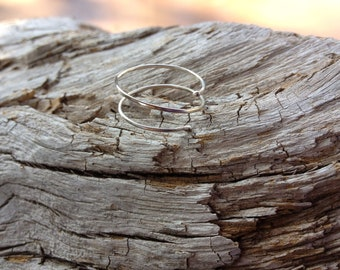 Sterling Silver Spiral Ring / Delicate Silver Ring