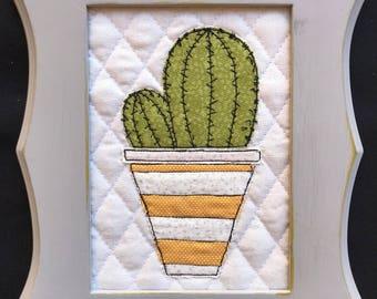 Barrel Roll Cactus Art (5x7)