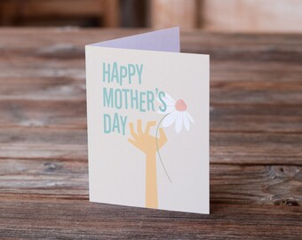 Mothers Day Card | Flower for Mom | Mom | Greeting Card