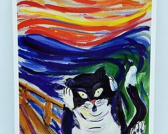 Kitty Scream Art Print Postcards (Set of 10 Cards)