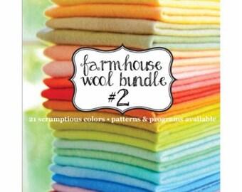 Wool Bundle, Hand Dyed Wool - Farmhouse Bundle - Weeks Dye Works, Fig Tree & Co -  21 colors
