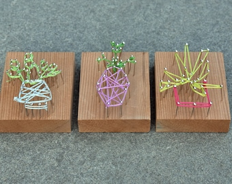 Potted Plant String Art (set of 3)