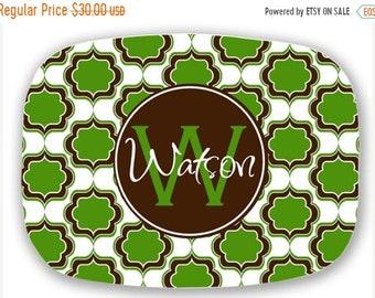 Memorial Day Sale Personalized Melamine Platter -  custom tray