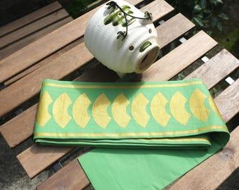 SALE Vintage Green Japanese Obi