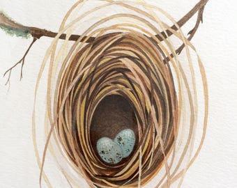 Weaverbird Nest - Original Watercolour
