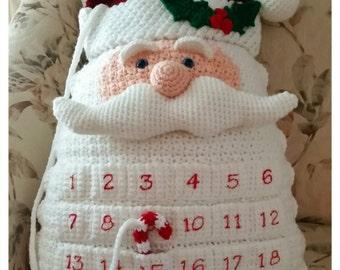 Santa Countdown Pillow