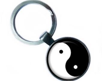 Yin Yang Symbol Black White Balance Keychain Keyring