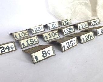 General Store Price Tag Holders,  Mercantile Price Tag Holder,  Metal Shelf Card Holder