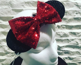 Minnie Mouse Inspired stretchy headband