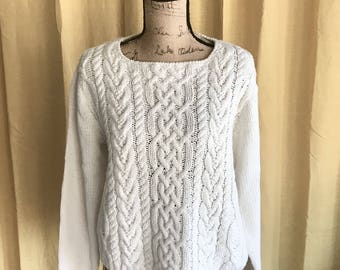 Chunky Cable Knit Sweater sz S-M