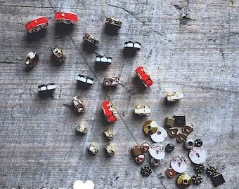 Crystal Mixed Metal Spacer Bead Assortment - DIY JEWELRY