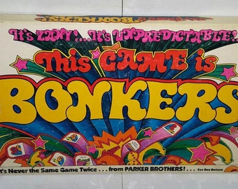 BONKERS, Vintage 1978 Parker Brothers Board Game - It's Never the Same Game Twice, Complete in Good Condition
