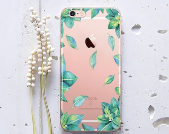 Floral iPhone X Case Leaves iPhone 6s Case iPhone SE Case iPhone Case 7 iPhone 8 Plus Cover for Samsung Galaxy Note 4 Case Phone 6s WC1227