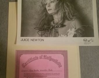 Juice Newton Autographed Print with certificate of authenticity!
