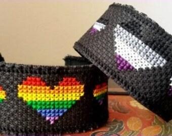 LGBTQ Pride Wristband (Cross Stitched!)