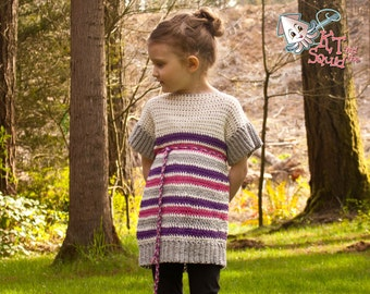 Crochet pattern, girls summer tunic, crochet girls top, Permission to sell, crochet tunic top, short sleeves, tunic pattern, pdf pattern
