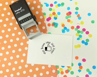 Self Inking - Teacher Stamp - Personalized Stamp - Custom Reward Stamp - Reading Record