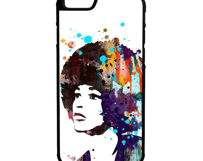 Angela Davis Painting Hybrid Protective Rubber Phone Case