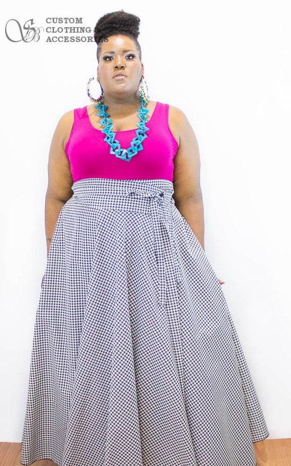 Plus Size High Waist Maxi Skirt Women Plus Size High Waist