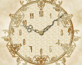 VC07 Tea For Two - Victorian Clock Face