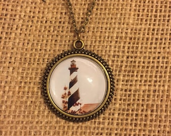 Cape Hatteras Lighthouse Necklace - Wearable Art