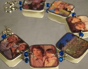 Little House on the Prairie print art clasp bracelet - TV Show