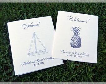 Welcome Booklets for Wedding Welcome Bags