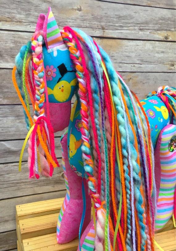 Easter pony easter gift stuffed pony girl gift horse easter pony easter gift stuffed pony girl gift horse stuffed animal stuffed horse stuffed pony stuffed animal plush pony negle Images