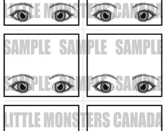 Bling Display Sheet - Large Eyes - LARGE