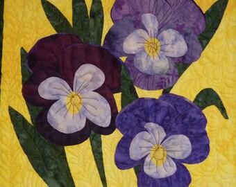 Violets quilt pattern - ON SALE