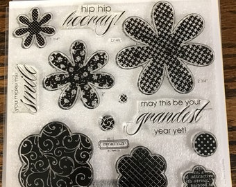 D1491 Hooray Bouquet - CTMH My Acrylix Stamp Sets