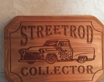 STREETROD COLLECTOR Laser Engraved Plaque/Sign