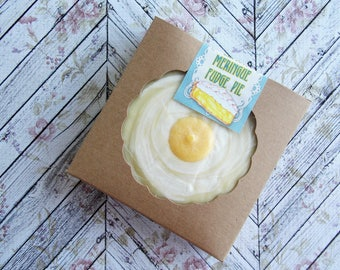 Lemon Meringue Fudge Pie ~ Lemon Fudge ~ Mini Fudge Pie ~ Shortbread ~ Party Favor ~ Wedding Favor