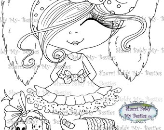 INSTANT DOWNLOAD Digital Digi Stamps Big Eye Big Head Dolls NEW My Besties img098 Happy Easter and Freebie Bestie Digi By Sherri Baldy