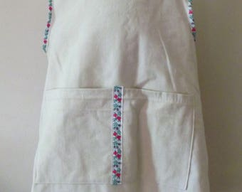 School sleeveless cotton linen apron